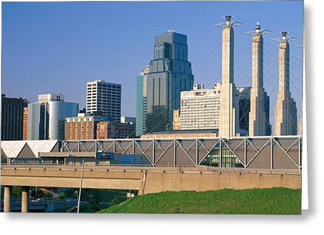 Center City Greeting Cards - Bartle Hall Kansas City Mo Greeting Card by Panoramic Images