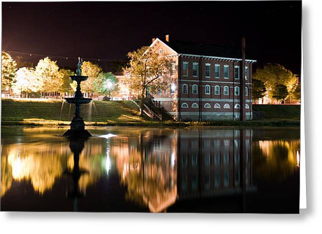 Landscape Framed Prints Greeting Cards - Bartlett Mall at Night Greeting Card by K Hines
