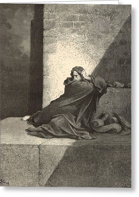 Adonai Greeting Cards - Baruch by Gustave Dore Greeting Card by Antique Engravings