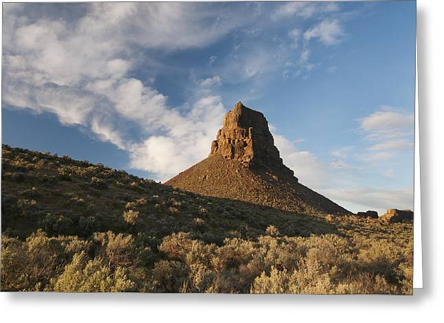Dry Lake Greeting Cards - Basalt Butte Dry Falls Sun Lakes Greeting Card by Kevin Schafer
