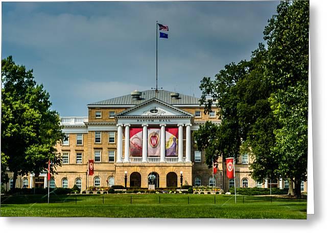 University Of Wisconsin Greeting Cards - Bascom Hall Greeting Card by Randy Scherkenbach