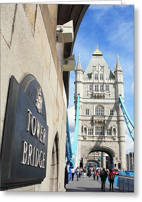 Hogan Bridge Greeting Cards - Tower Bridge - ref 4994 Greeting Card by Colin Hogan