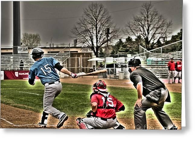 Baseball Bat Greeting Cards - Baseball 2 Greeting Card by Jimmy Ostgard