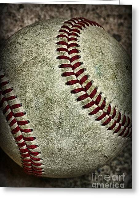 Rawlings Greeting Cards - Baseball - A Retired Ball Greeting Card by Paul Ward