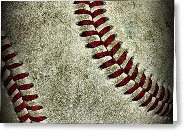 Baseball - A Retired Ball Greeting Card by Paul Ward