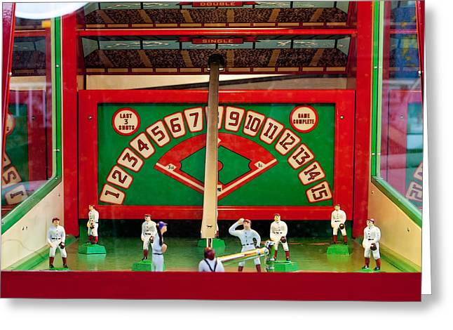 Baseball Arcade Game Greeting Card by Art Block Collections