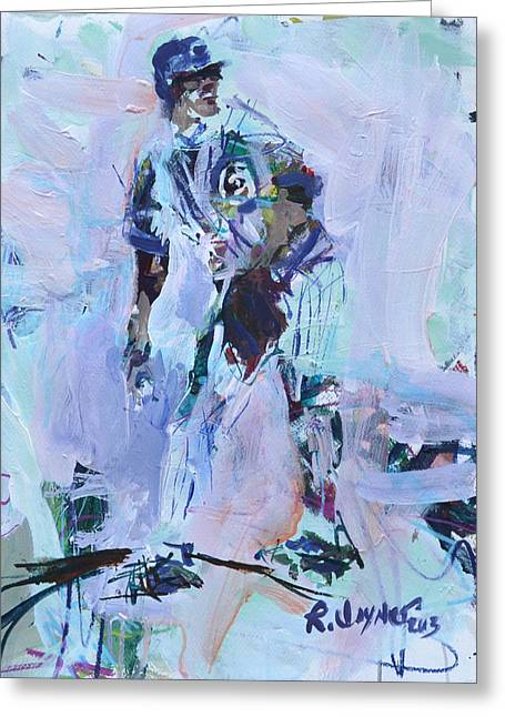 Recently Sold -  - Purchase Greeting Cards - Baseball Art Greeting Card by Robert Joyner