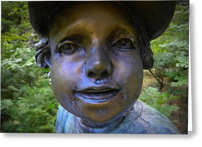 Garden Statuary Greeting Cards - Baseball Boy  Greeting Card by Frank Wilson