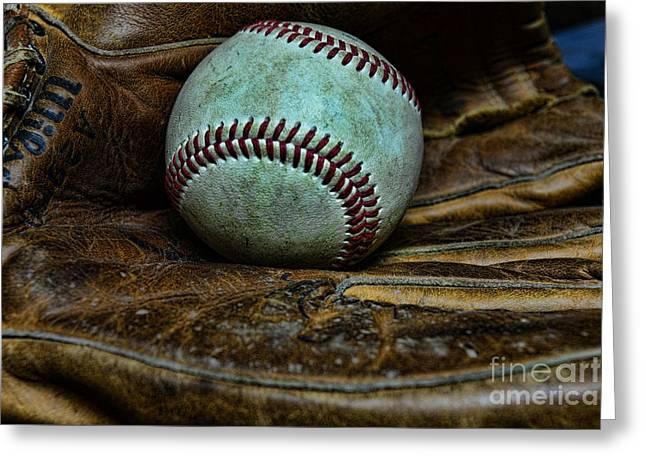 Baseball broken in Greeting Card by Paul Ward
