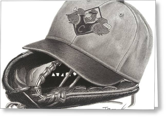 Leather Glove Drawings Greeting Cards - Baseball Championship Season Greeting Card by Tim Trojan