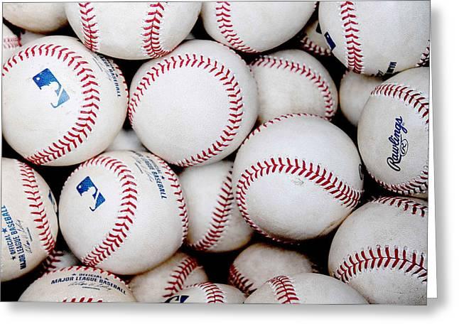 Major League Greeting Cards - Baseball Color Greeting Card by Joe Hamilton