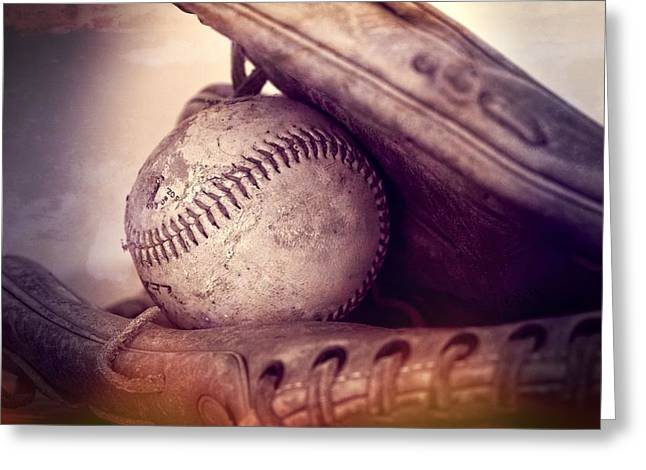 Old Pitcher Greeting Cards - Baseball  Greeting Card by Dan Sproul
