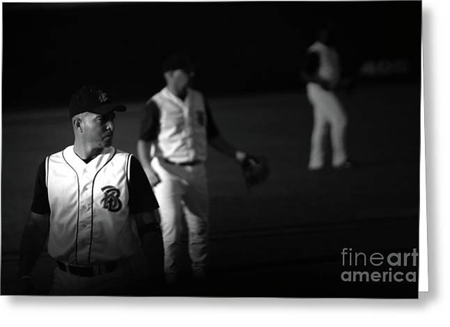 Baseball Days Greeting Card by Karol Livote