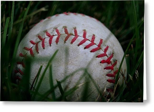 Diane Reed Greeting Cards - Baseball Greeting Card by Diane Reed