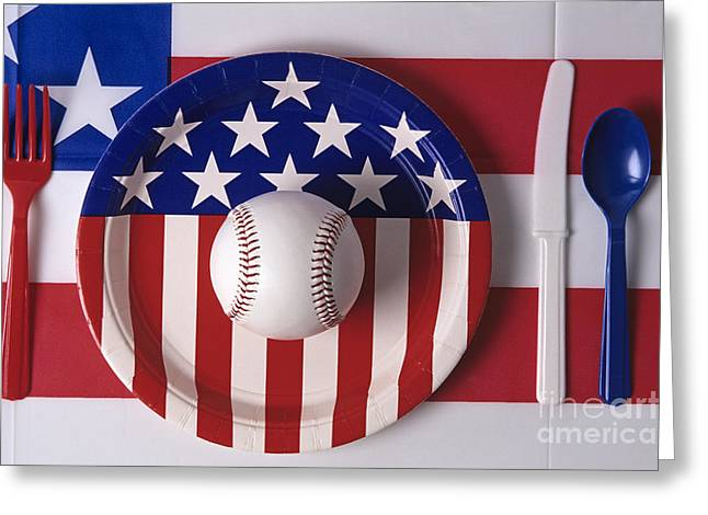 The Agricultural Life Greeting Cards - Baseball Dinner Greeting Card by Jim Corwin