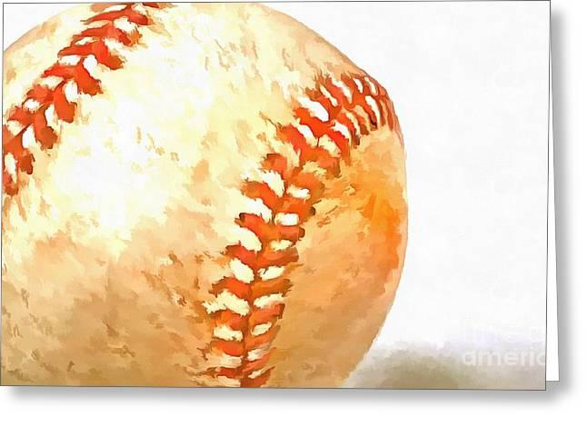 Spring Training Greeting Cards - Baseball Greeting Card by Edward Fielding
