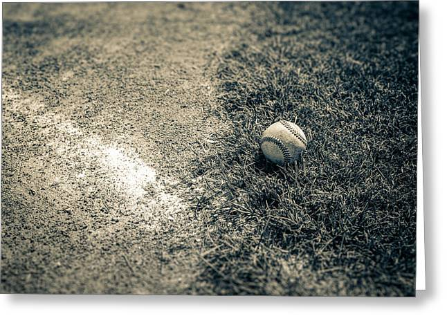 League Greeting Cards - Baseball Field 1 Greeting Card by YoPedro
