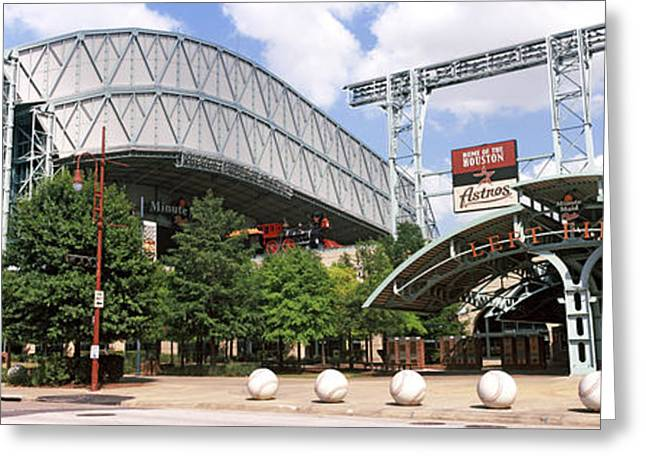 Baseball Stadiums Greeting Cards - Baseball Field, Minute Maid Park Greeting Card by Panoramic Images