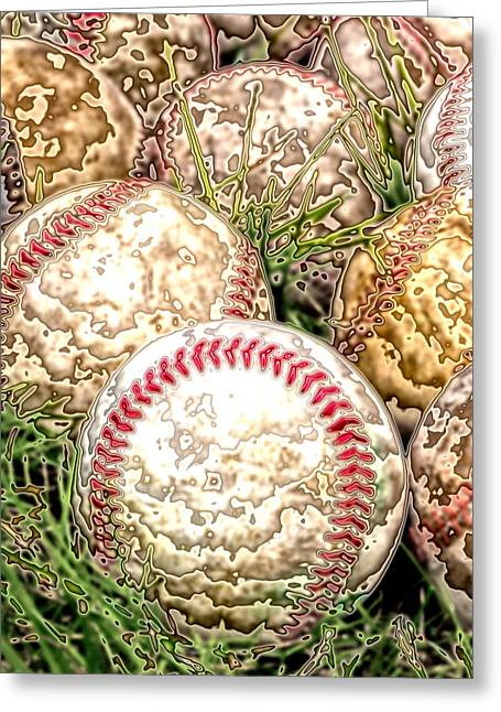 Baseball Art Digital Art Greeting Cards - Baseball - Field of Dreams Greeting Card by David Patterson