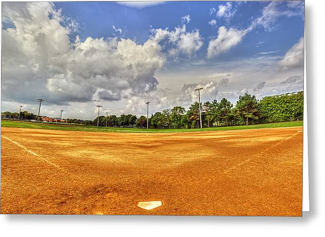 Cobbs Hill Greeting Cards - Baseball Field Greeting Card by Tim Buisman