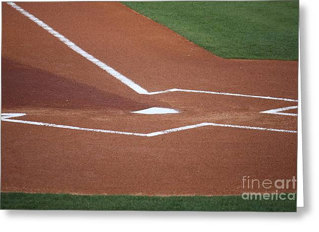 Baseball Homeplate Greeting Card by Keith Bell
