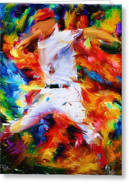 Fanatic Greeting Cards - Baseball  I Greeting Card by Lourry Legarde