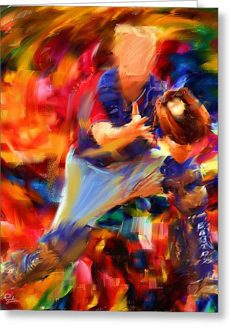 Pitcher Greeting Cards - Baseball II Greeting Card by Lourry Legarde