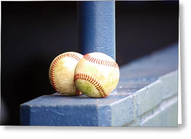 Baseball Glove Greeting Cards - Baseball Greeting Card by Jeff Tuten