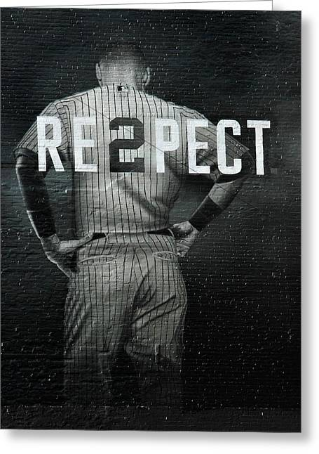 Nyc Posters Greeting Cards - Baseball Greeting Card by Jewels Blake Hamrick