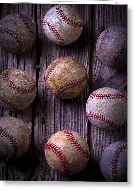 Baseball Memories Greeting Card by Garry Gay