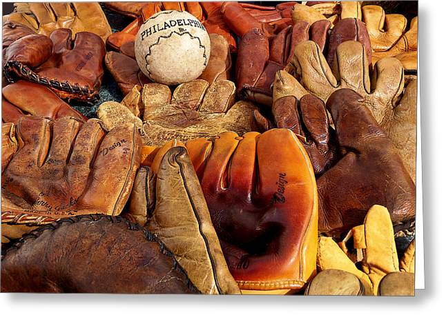 Rawhide Greeting Cards - Baseball of Old Greeting Card by Art Block Collections