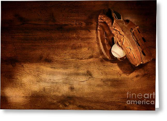 Baseball Game Greeting Cards - Baseball Greeting Card by Olivier Le Queinec