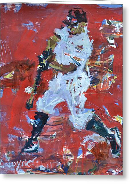 Recently Sold -  - Purchase Greeting Cards - Baseball Painting Greeting Card by Robert Joyner