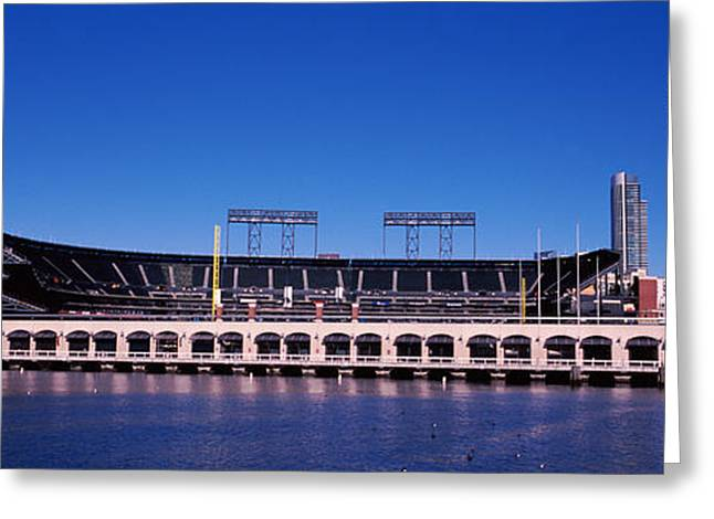 Baseball Parks Photographs Greeting Cards - Baseball Park At The Waterfront, At&t Greeting Card by Panoramic Images