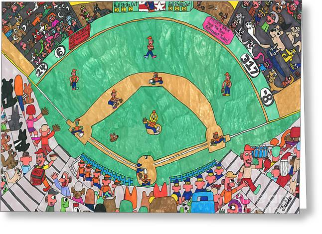 Baseball Greeting Card by Paul Fields