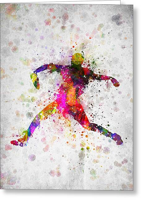 Baseball Player - Pitcher Greeting Card by Aged Pixel