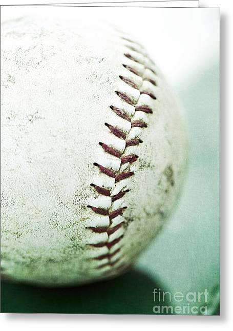 Ball Games Greeting Cards - Baseball Greeting Card by Priska Wettstein