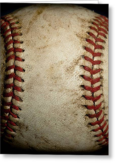 David Patterson Greeting Cards - Baseball Seams Greeting Card by David Patterson