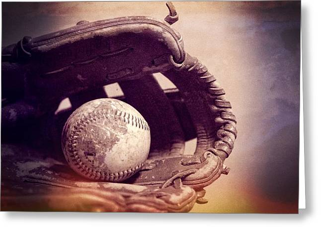 American Pastime Photographs Greeting Cards - Baseball Season Greeting Card by Dan Sproul