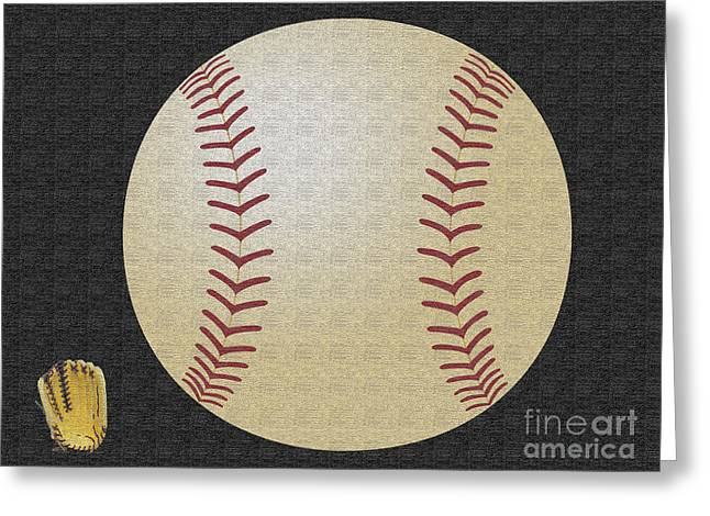 Pastimes Greeting Cards - Baseball Season Greeting Card by Tina M Wenger