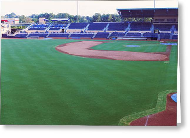 Baseball Parks Photographs Greeting Cards - Baseball Stadium In A City, Durham Greeting Card by Panoramic Images