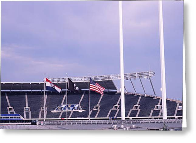 Baseball Stadiums Greeting Cards - Baseball Stadium In A City, Kauffman Greeting Card by Panoramic Images