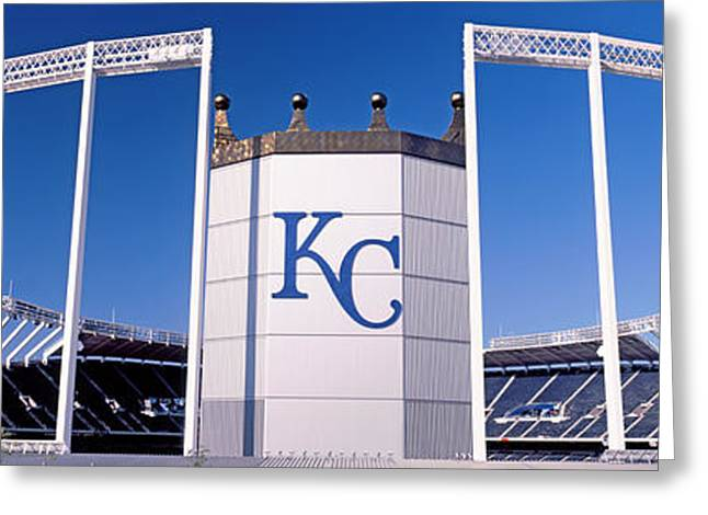 Kansas City Royals Greeting Cards - Baseball Stadium, Kauffman Stadium Greeting Card by Panoramic Images