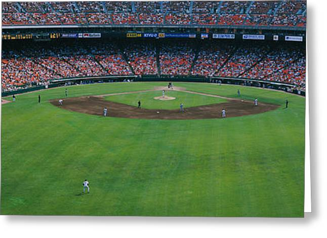 Baseball Stadiums Greeting Cards - Baseball Stadium, San Francisco Greeting Card by Panoramic Images