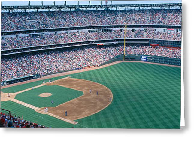 Baseball Stadiums Greeting Cards - Baseball Stadium, Texas Rangers V Greeting Card by Panoramic Images