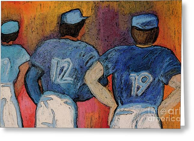 Dug Out Greeting Cards - Baseball Team by jrr  Greeting Card by First Star Art