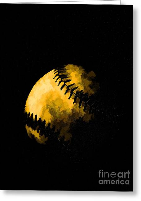 Pastimes Greeting Cards - Baseball the American Pastime Greeting Card by Edward Fielding