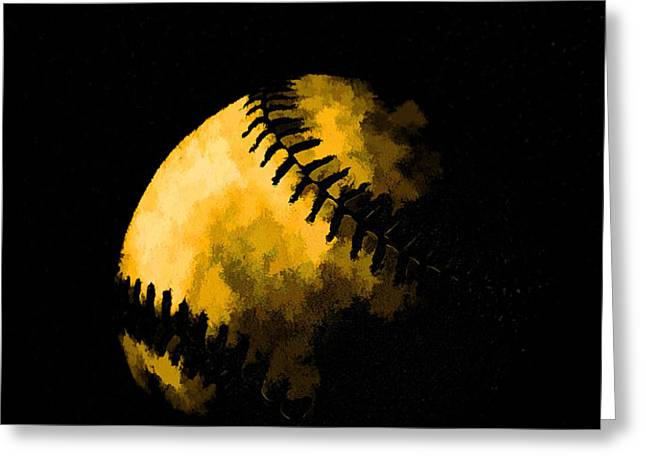Baseball the American Pastime Greeting Card by Edward Fielding