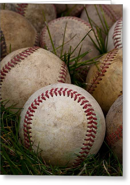 Baseballs Greeting Card by David Patterson