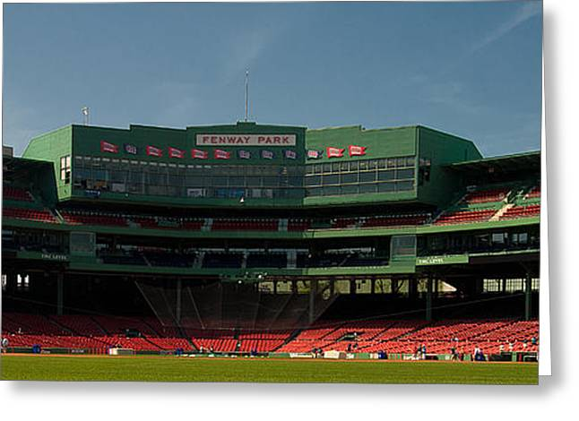 Fenway Park Greeting Cards - Baseballs Hollowed Ground Greeting Card by Paul Mangold